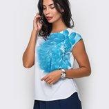 Нежная блузка футболка 3D цветок