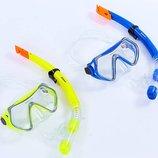 Набор для плавания маска с трубкой 166-52-PVC термостекло, PVC, пластик 2 цвета