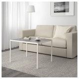 Журнальный столик со столешницей, белый/серый, 75x60x50 403.426.38 Nyboda от Икеа Удачный выбор IKEA