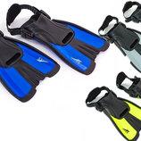 Ласты тренировочные с открытой пяткой ласты с пяточным ремнем Seals F16 размер 34-38, 3 цвета