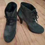 Ботиночки замшевые,туфли на каблуке