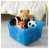 Ящик на колесах, для игрушек, синий, 39x39 см 800.985.16 Vessla от Икеа Удачный выбор IKEA