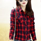 Рубашка S, M, L код 8866-36 красно-черная