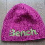 шапка новая детская 30 шерсть 10 ангора девоске Bench на флисе ушки в тепле