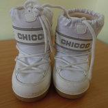 сапоги чоботы 23-25b рр 15 см стелька белые деиские девочке Chicco Чико мальчику оригинал