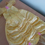 Платье карнавал 3-4 года Disney Дисней Принцесса Бель желтое новое без бирки