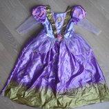 Карнавальное платье 128 см Disney Дисней оригинал фирменное Анна Эльза новое без бирки