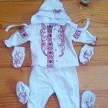 вишитий костюм для младенца -девочки на 56см