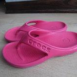 Кроксы 22,5 см стелька рр J 2 обувь на море розовые вьетнамки Crocs Крокс