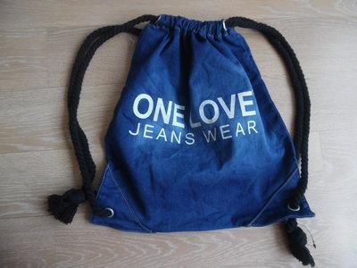 d456f74af917 сумка спортивная рюкзак мешок женская подростковая синяя тянется джинс новая