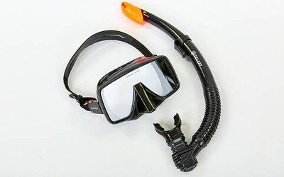 Набор для плавания маска с трубкой Zelart 109-50-4 термостекло, силикон, пластик