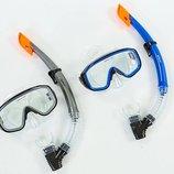 Набор для плавания маска с трубкой Zelart 138-50-4 термостекло, PVC, пластик