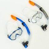 Набор для плавания маска с трубкой Zelart 153-124-PVC термостекло, PVC, пластик