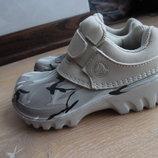 кроксы море 17 см стелька 10 С 11 рр детские Crocs Крокс Мальчику кожа крокслайт