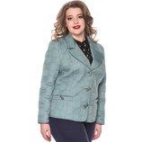 Стеганная куртка-пиджак до 60 размера