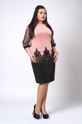 10e2082bea2 Платье с кружевом рукав сетка 48-56 размер  399 грн - женские платья ...