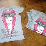 Нарядная футболка для девочки
