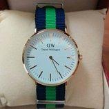 Часы Daniel Wellington сине-зеленые