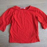 футболка кофта 6-8 л H&M НМ красная