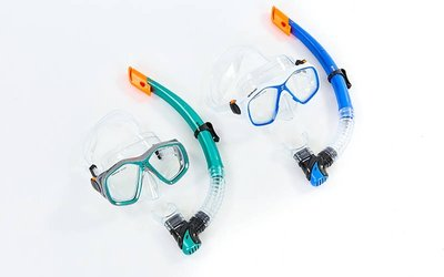 Набор для плавания маска с трубкой Zelart 276-120-PVC термостекло, PVC, пластик