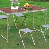 Акция Стол 4 стула для кемпинга, отдыха на природе, пикника