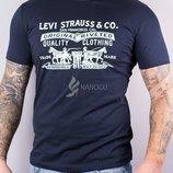 Футболка мужская Levi Strauss & Co темно-синяя хлопковая