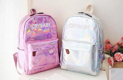 Голограммный Рюкзак CRY BABY Большой Рюкзак голографический,школьный ... c226d453f99