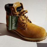 Мужские Женские кожаные водонепроницаемые зимние ботинки Maine Woods Thinsulate Timberland