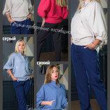42-50 Женская блузка, лен. женская блузка. женский блузон. жіноча блузка, блузка летняя