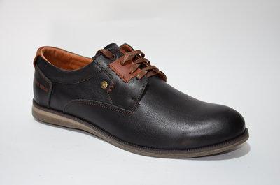 Туфли на шнуровке из натуральной кожи