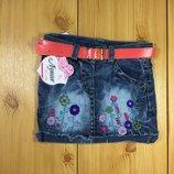 Джинсовая юбка для девочки рр.80-110 Beebaby Бибеби