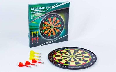 Мишень для игры в дартс магнитная/дартс магнитный Baili 17015 диаметр 34,5см 6 дротиков