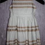 Красивое белое платье 6-8лет.