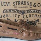 Новинка от Levis мокасины Натуральная кожа Левис летние туфли Levis Strauss 90-07
