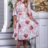 летнее платье с цветочным принтом NEW цвет 962