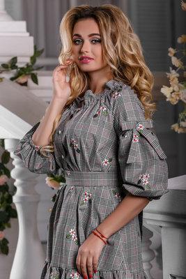 3cc61ead5b5 Красивое летнее платье в клетку с вышивкой 960  630 грн - женские ...