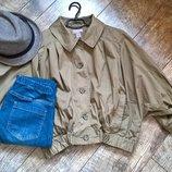 Мега трендовая объемная куртка-ветровка/летняя накидка/от H&M/хаки/M
