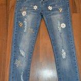 Стильные,стрейчевые, джинсовы брючки для девочек.р-р 134,140,146,152,158,164. Венгрия