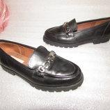 Туфли Лоферы На Девочку 100% Натуральная Кожа ~ Clarks ~ р 35