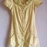 Жёлтый сарафан платье рубашка туника Atmosphere, размер S-M