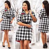 Стильное женское платье до больших размеров 020 Дольче .
