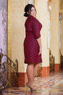 8f8d09b0006 Previous Next. Женское стильное платье-рубашка в больших размерах 1029 Отто  Запах Принт в расцветках.