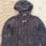 Вязаная кофта Zara с капюшоном, размер 5-6 лет, рост 118 см.