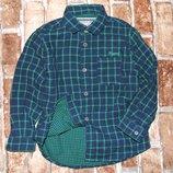 рубашка мальчику хлопковая Майорал 3 года клетка хб Сток большой выбор одежды 1-16лет