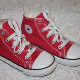 Красные кеды Converse All Star оригинал размер 9 на 25 16,3 см по стельке