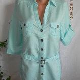 Нежная блуза-рубашка лен cotton traders