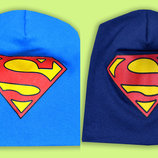 Деми шапочка трикотаж Супермен