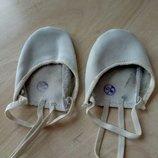 Спортивные кожаные тапочки для худ. гимнастики 23-23,5 см.