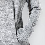 Женская кофта стрейч с капюшоном меланж Yoga Mango S M