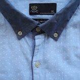 Мужская рубашка в горошек в узорчик Next XL
